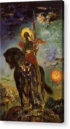 Gustave Moreau: La Parque et L'Ange de la Mort, Musee Gustave Moreau - Paris, France. The Park and the Angel of Death. Samael Angel, Oil On Canvas, Canvas Art, A4 Poster, Poster Prints, Ouvrages D'art, Post Impressionism, Angel Of Death, Dibujo