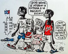 #CUBA: 'Le negaron la entrada...', viñeta de #AlenLauzán en #DiariodeCuba  #HUMOR