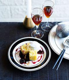 Coconut, spiced cherries and dark chocolate recipe   Terre restaurant :: Gourmet Traveller