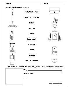 First Communion Worksheets For Children