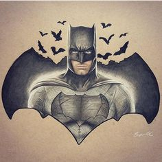 Via @small_artist_help  Insane Batman drawing  By @stevoart  Support Each Other | Be Active | The Creative Movement