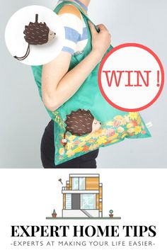 an adorable foldable bag with Expert Home Tips, enter now! Free Competitions, Home Hacks, Shopping Bag, Giveaway, Make It Yourself, Gift Ideas, Embroidery, Sewing, Tips