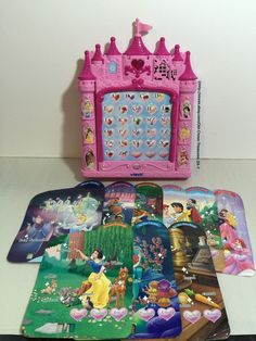 Vtech Disney Princesses Pink Learning Pad Letters Numbers Music Manners Animals | eBay