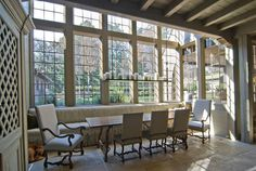 windows dining area *favorite window/ ceiling idea so far but they need to go to the floor
