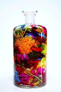 Bottled flowers byAzuma Makoto
