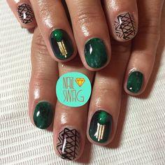 THE GREEN DREAM NAIL for Molly! #nailswag #nails #nailart #nailartclub #swag #gelnail #LA