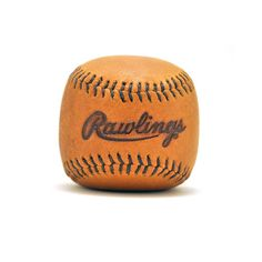 Vintage Leather Baseball Paperweight