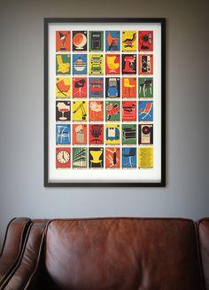 Design Classics A to Z - Alphabet Print - 67 Inc
