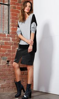 Women's Skirts   Mika Leather Skirt   FATE