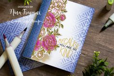 Neat & Tangled is celebrating STAMPtember® with exclusive product just for you! There are very limited quantities available of this stamp set and it is ONLY available at Simon Says Stamp this STAMPtember while supplies last. Card Making Tutorials, Card Making Techniques, Neat And Tangled, Simon Says Stamp Blog, Mixed Media Cards, Miss You Cards, Birthday Thank You, Floral Border, Watercolor Cards
