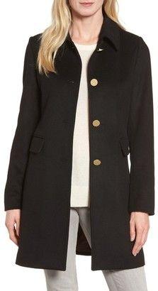Shop Now - >  https://api.shopstyle.com/action/apiVisitRetailer?id=675860489&pid=uid6996-25233114-59 Women's Tahari Sophia Wool A-Line Coat  ...