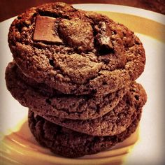 Cake mix cookies: Devil's Food Chocolate Chunk! Yes, please!