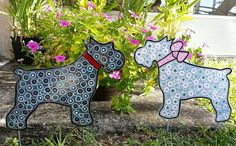 Schnauzer Dog Metal Art by FlowerPowerShowers on Etsy, $25.00