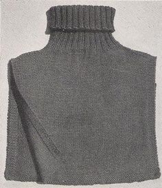 Knit turtleneck chest protector – Grandmother's Pattern Book : Knit turtleneck chest protector – Grandmother's Pattern Book Ladies Cardigan Knitting Patterns, Knit Vest Pattern, Knitting Stitches, Knitting Patterns Free, Free Knitting, Knitting Scarves, Scarf Patterns, Free Pattern, Crochet Patterns