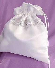Ivory Satin Money Bag