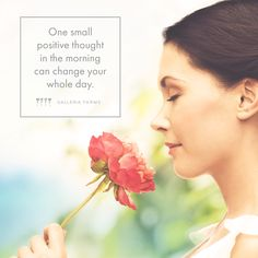 One small positive thought in the morning can change your whole day. #GalleriaFarms #MondayMotivation #flowers