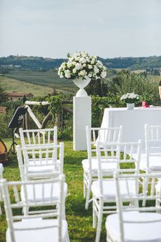 The ceremony set up in the chiantishire