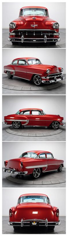 1954 Chevrolet Bel Air-Not quite the Tri-Five, but still a beautiful car and photographs.