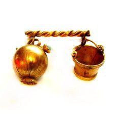Antique Bar Pin, Vintage Edwardian Charm Brooch