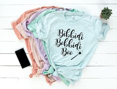 Cinderella Inspired Bibbidi Bobbidi Boo Pastel Disney Gift T-Shirts. Perfect Disney Gifts for Your Next Disney Vacation
