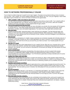 Social Media Guide - How to Network Professionally Online (LinkedIn)