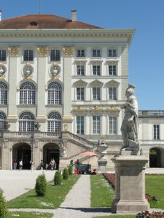 Schloss Nymphenburg, Germany - this main block was started in the late 17th century - the rest of the palace and its park buildings were built in the first half of the 18th century
