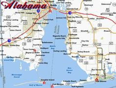 Alabama Coast Map 106 best Gulf Coast Alabama!!!!!! images on Pinterest | Holiday  Alabama Coast Map