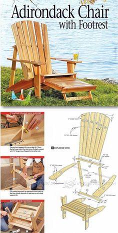 Adirondack Chair Plans - Outdoor Furniture Plans & Projects   WoodArchivist.com