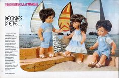 PAR AMOUR DES POUPEES :: M&T 1977-07 : Régates d'été pour Marie-Françoise et Jean-Michel (couture)
