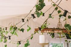 marquee decorated with greenery - Google Search
