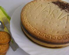 Tarta de galletas con chocolate