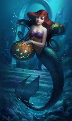 Ariel - Halloween by Selenada