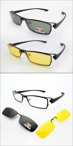 b553601841 2PCS Polarized Clip on Sunglasses Night Vision Glasses and Optical  Eyeglasses Frame Men Glasses Frames Prescription