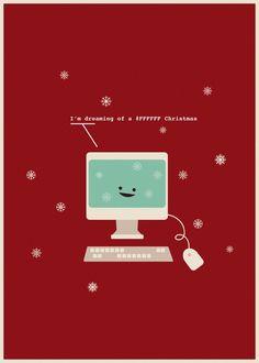Graphic/Web Design Christmas Humor  (Nerdy Dirty Holidays by Nicole Martinez, via Behance)