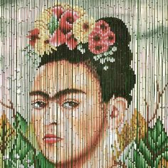 Frida Kahlo bamboo curtain by Kitsch Kitchen – The Pippa & Ike Show