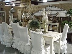 These chairs are just lovely ... Ruffle LOVE