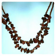 Copper color glitterstone necklace Pretty accent piece. Draws attention. Only available with a bundle. Artisan made Jewelry Necklaces