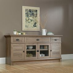 "Sauder Harbor View TV Stand for TVs up to 70"", Salt Oak: Furniture : Walmart.com - TOO WIDE - $399.00 (03.26.2014)"