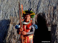 Kaiapo shaman in the Brazilian Amazon