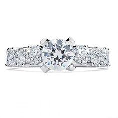 "Engagement Ring Sandra Biachi's Quatrain Collection ""Radiant"" SandraBiachi.com"