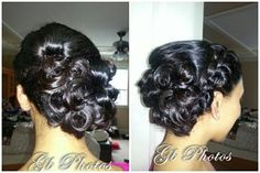 side Updo with a french braid. Love the look <3