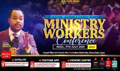 Get Ready For The MINISTRY WORKERS CONFERENCE By Dr. Wealth. 7th July 2021. 6PM Prompt! Connect To YouTube Live. GosoelPillarsChurch #DrWealth #DrIsaiahWealth Youtube Live, To Youtube, Free To Air, Upcoming Events, Prompt, Ministry, Work Hard, Wealth, Conference