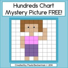 This 100s chart mystery picture puzzle will help your students practice numbers 1 - 100 in a fun way!