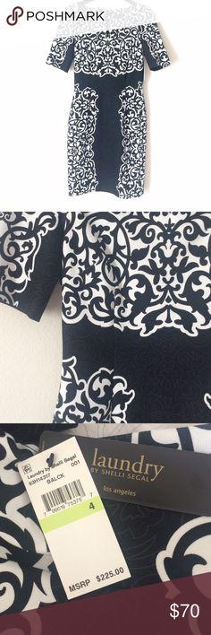 Spotted while shopping on Poshmark: BRAND NEW LAUNDRY PRINTED PONTE DRESS! #poshmark #fashion #shopping #style #Laundry by Shelli Segal #Dresses & Skirts