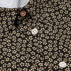 Paul Smith Men's Shirts | Indigo-Dyed Japanese Flower Print Shirt #TRICOLINES #floraismiudos #FocusTextil