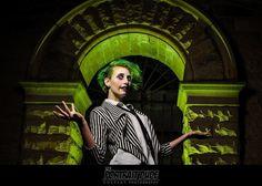 Its SHOWTIME! In Frame: @galaxyamethystcosplay  Character: Beetlejuice Photographer: @theportraitdude   #theportraitdude #galaxyamethyst #beetlejuice #beetlejuicecosplay #graveyard #halloweenmakeup