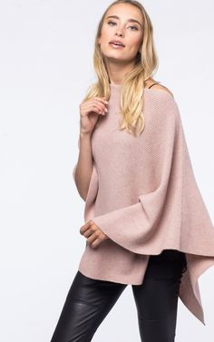 Asymmetric poncho by @REPEATcashmere #winter2017 #w17 #winter #autumn #fall #wintercolour #autumncolour #poncho #cape #wool #cashmere #babypink #pink #soft