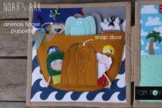 Bible quiet book, church busy book, handmade fabric Bible story Noah's Ark