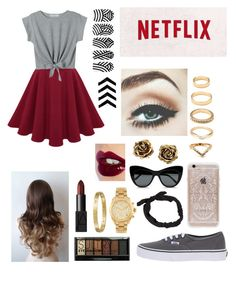 #netflix #marathon by majo-caceres on Polyvore featuring polyvore, fashion, style, Vans, Michael Kors, Forever 21, Tiffany & Co., Cartier, Rifle Paper Co, STELLA McCARTNEY, NLY Accessories, Boohoo, Charlotte Tilbury, NARS Cosmetics, women's clothing, women's fashion, women, female, woman, misses and juniors