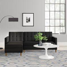 Brandi Reversible Sleeper Sectional #LivingRoomEndTables Modular Sectional Sofa, Sleeper Sectional, Modern Sectional, Fabric Sectional, Living Room End Tables, Rugs In Living Room, Living Room Furniture, Furniture Stores, Room Rugs